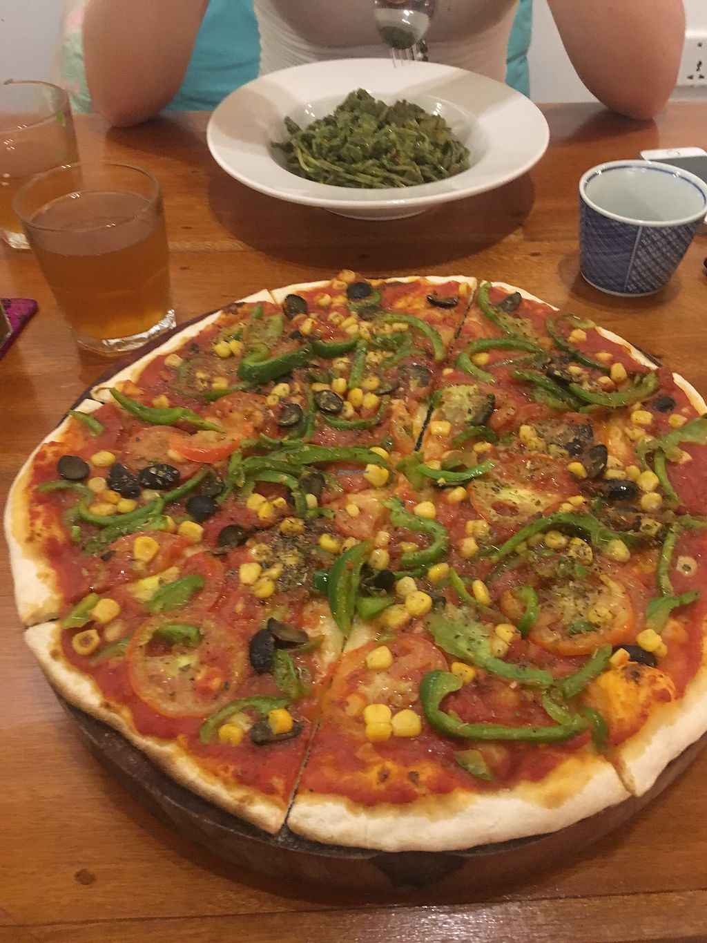 """Photo of Simple Things  by <a href=""""/members/profile/HungryEaters"""">HungryEaters</a> <br/>Vegan Pizza & Pesto Pasta <br/> October 5, 2017  - <a href='/contact/abuse/image/72312/312016'>Report</a>"""