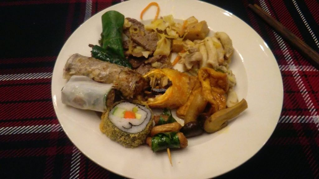 """Photo of An Lac Chay - Hoan Kiem  by <a href=""""/members/profile/KPike"""">KPike</a> <br/>Plate number 1; a great selection of vegan food <br/> October 7, 2016  - <a href='/contact/abuse/image/72337/180213'>Report</a>"""