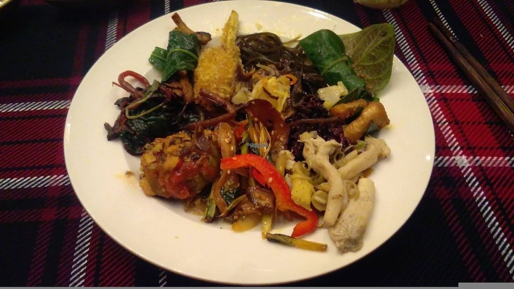 """Photo of An Lac Chay - Hoan Kiem  by <a href=""""/members/profile/KPike"""">KPike</a> <br/>Plate number 2; another great selection of vegan Vietnamese food <br/> October 7, 2016  - <a href='/contact/abuse/image/72337/180214'>Report</a>"""