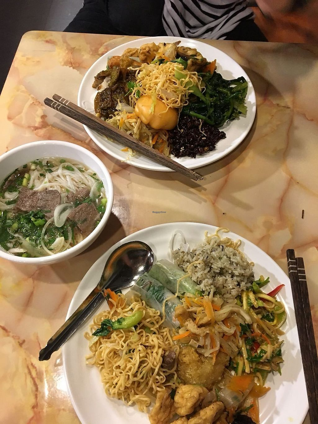 """Photo of An Lac Chay - Hoan Kiem  by <a href=""""/members/profile/Ellisrosebttry"""">Ellisrosebttry</a> <br/>Fake 'beef' pho and buffet mix  <br/> March 3, 2018  - <a href='/contact/abuse/image/72337/366181'>Report</a>"""