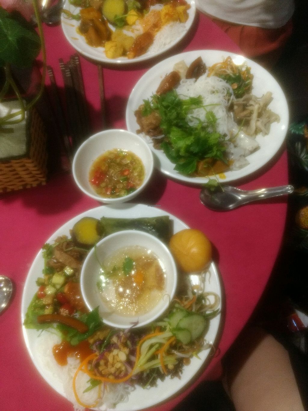 """Photo of An Lac Chay - Hoan Kiem  by <a href=""""/members/profile/VeggiKitty"""">VeggiKitty</a> <br/>food from the buffet table  <br/> April 17, 2018  - <a href='/contact/abuse/image/72337/387254'>Report</a>"""