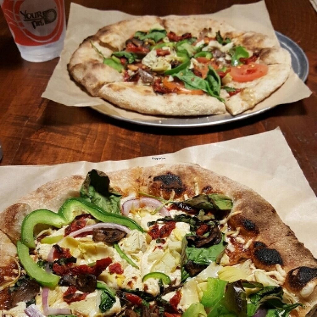 "Photo of CLOSED: Your Pie  by <a href=""/members/profile/VegManda"">VegManda</a> <br/>Vegan Pizzas on Wheat Dough  <br/> April 13, 2016  - <a href='/contact/abuse/image/72362/144459'>Report</a>"