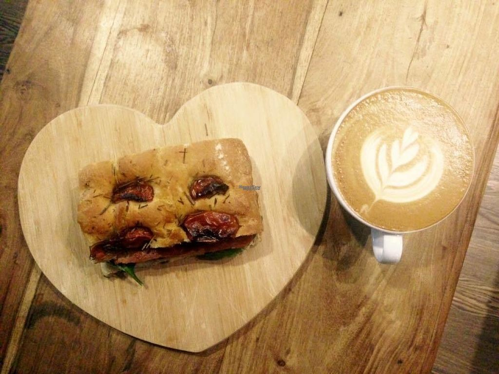"""Photo of Blend Coffee Lounge   by <a href=""""/members/profile/Meaks"""">Meaks</a> <br/>Vegan 'bacon' sandwich  <br/> August 1, 2016  - <a href='/contact/abuse/image/72389/164108'>Report</a>"""