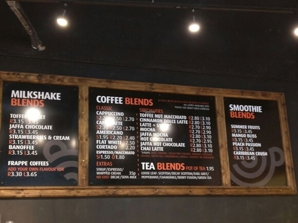 """Photo of Blend Coffee Lounge   by <a href=""""/members/profile/Agadooska"""">Agadooska</a> <br/>Soya (or almond milk) at no extra cost.  <br/> November 17, 2016  - <a href='/contact/abuse/image/72389/191257'>Report</a>"""