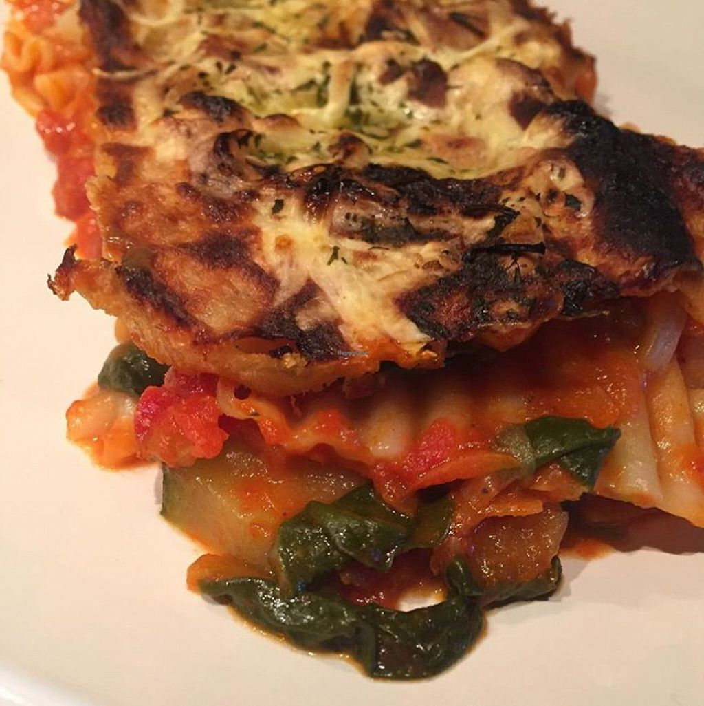 """Photo of CLOSED: Gringos Vegan Kitchen  by <a href=""""/members/profile/SaraFitz"""">SaraFitz</a> <br/>Vegan lasagne (that I accidentally burnt a little!) <br/> June 1, 2016  - <a href='/contact/abuse/image/72407/151805'>Report</a>"""
