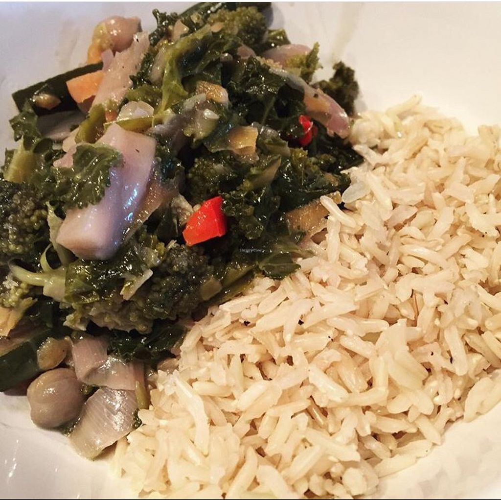 """Photo of CLOSED: Gringos Vegan Kitchen  by <a href=""""/members/profile/SaraFitz"""">SaraFitz</a> <br/>Thai green curry with brown rice.  <br/> June 1, 2016  - <a href='/contact/abuse/image/72407/151806'>Report</a>"""
