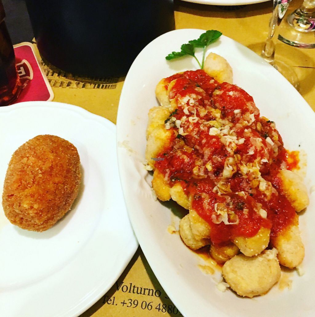 "Photo of Rifugio Romano  by <a href=""/members/profile/Veganhippychic"">Veganhippychic</a> <br/>pizza gnocchi <br/> December 20, 2016  - <a href='/contact/abuse/image/72423/203155'>Report</a>"