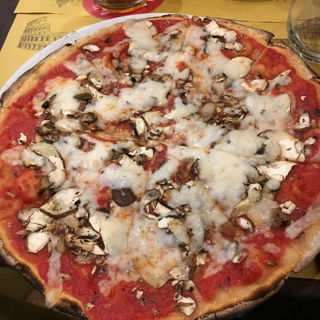 "Photo of Rifugio Romano  by <a href=""/members/profile/Lottie309"">Lottie309</a> <br/>Vegan pizza margarita with added mushrooms <br/> February 12, 2018  - <a href='/contact/abuse/image/72423/358421'>Report</a>"