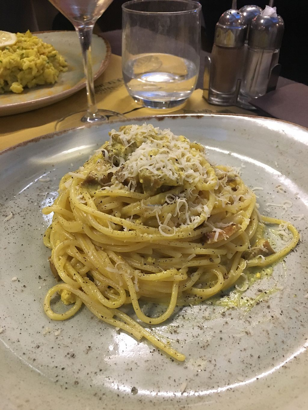 "Photo of Rifugio Romano  by <a href=""/members/profile/ivaateri"">ivaateri</a> <br/>Vegan carbonara <br/> March 6, 2018  - <a href='/contact/abuse/image/72423/367547'>Report</a>"