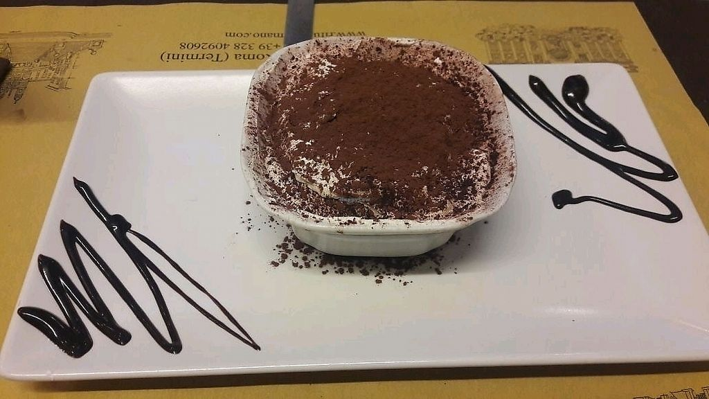 "Photo of Rifugio Romano  by <a href=""/members/profile/Athina"">Athina</a> <br/>vegan tiramisu <br/> March 9, 2018  - <a href='/contact/abuse/image/72423/368568'>Report</a>"
