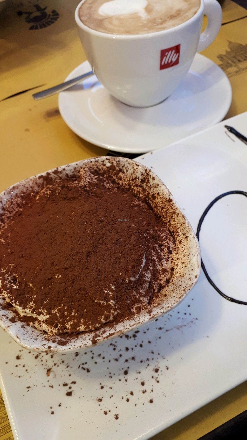"Photo of Rifugio Romano  by <a href=""/members/profile/AndreaMM"">AndreaMM</a> <br/>Vegan tiramisu with soy latte <br/> March 29, 2018  - <a href='/contact/abuse/image/72423/377991'>Report</a>"