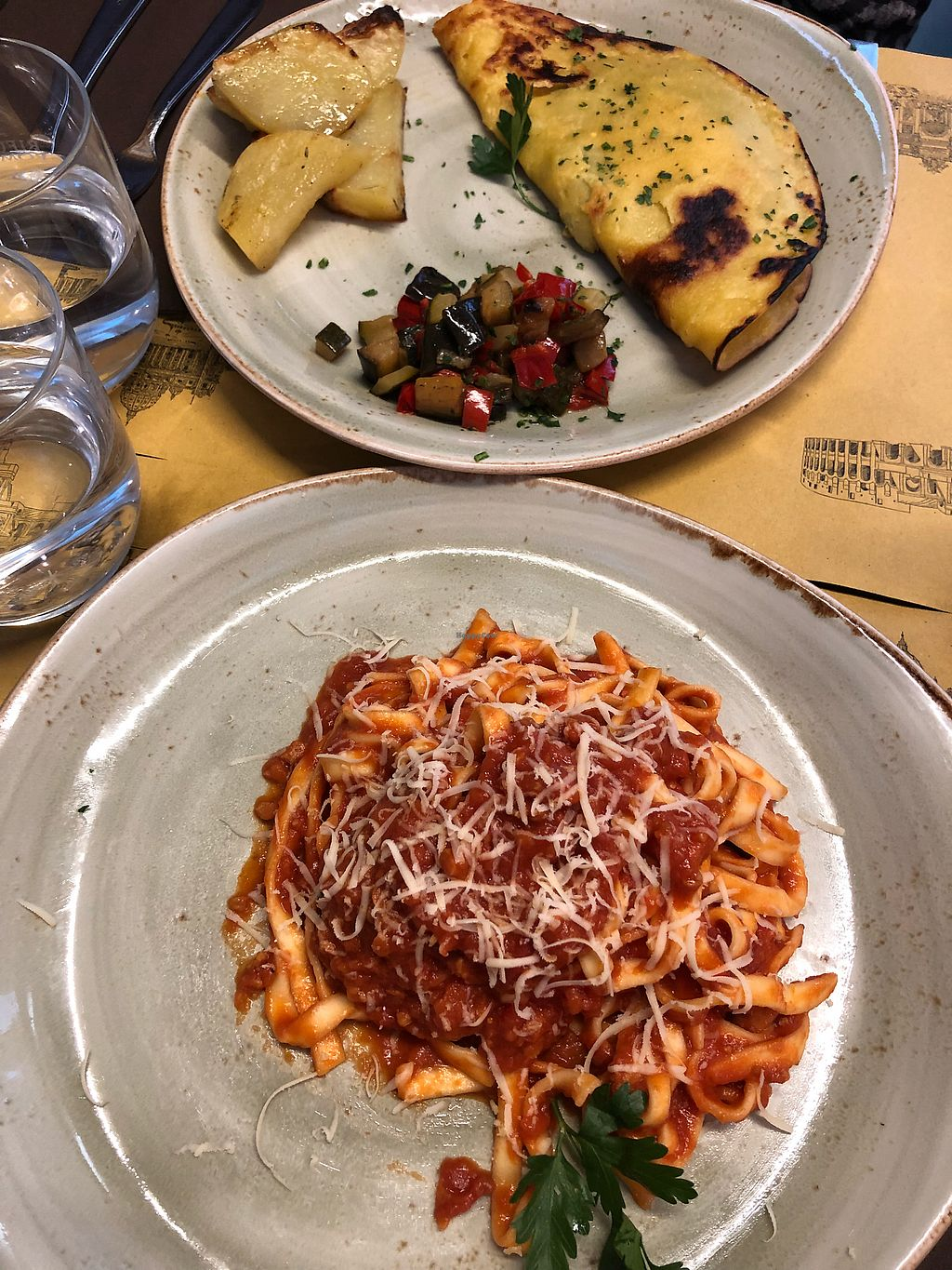 "Photo of Rifugio Romano  by <a href=""/members/profile/marreika"">marreika</a> <br/>Italian pasta and chickpea omelette <br/> April 22, 2018  - <a href='/contact/abuse/image/72423/389461'>Report</a>"