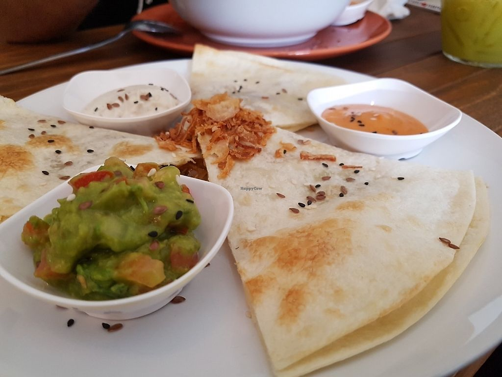 """Photo of Pure Vegan Heaven  by <a href=""""/members/profile/Rosa%20veg"""">Rosa veg</a> <br/>Quesadilla <br/> May 2, 2017  - <a href='/contact/abuse/image/72425/254919'>Report</a>"""