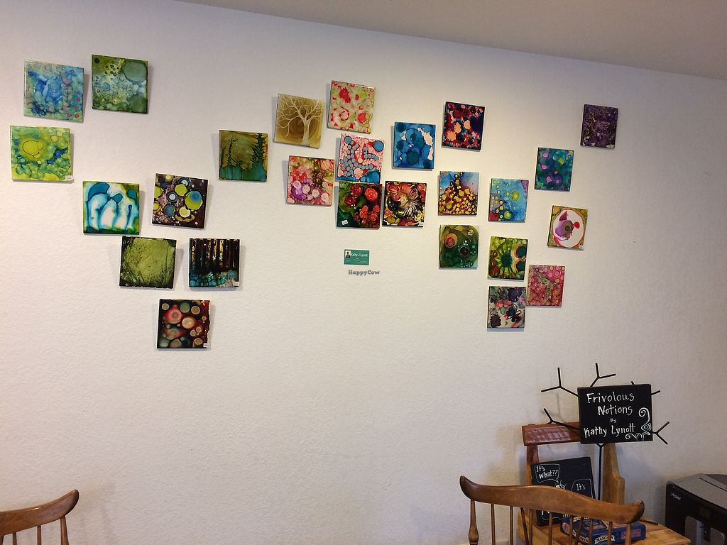 """Photo of Cafe Wylde  by <a href=""""/members/profile/Arti"""">Arti</a> <br/>Wall upstairs - pretty things <br/> February 17, 2018  - <a href='/contact/abuse/image/72436/360517'>Report</a>"""