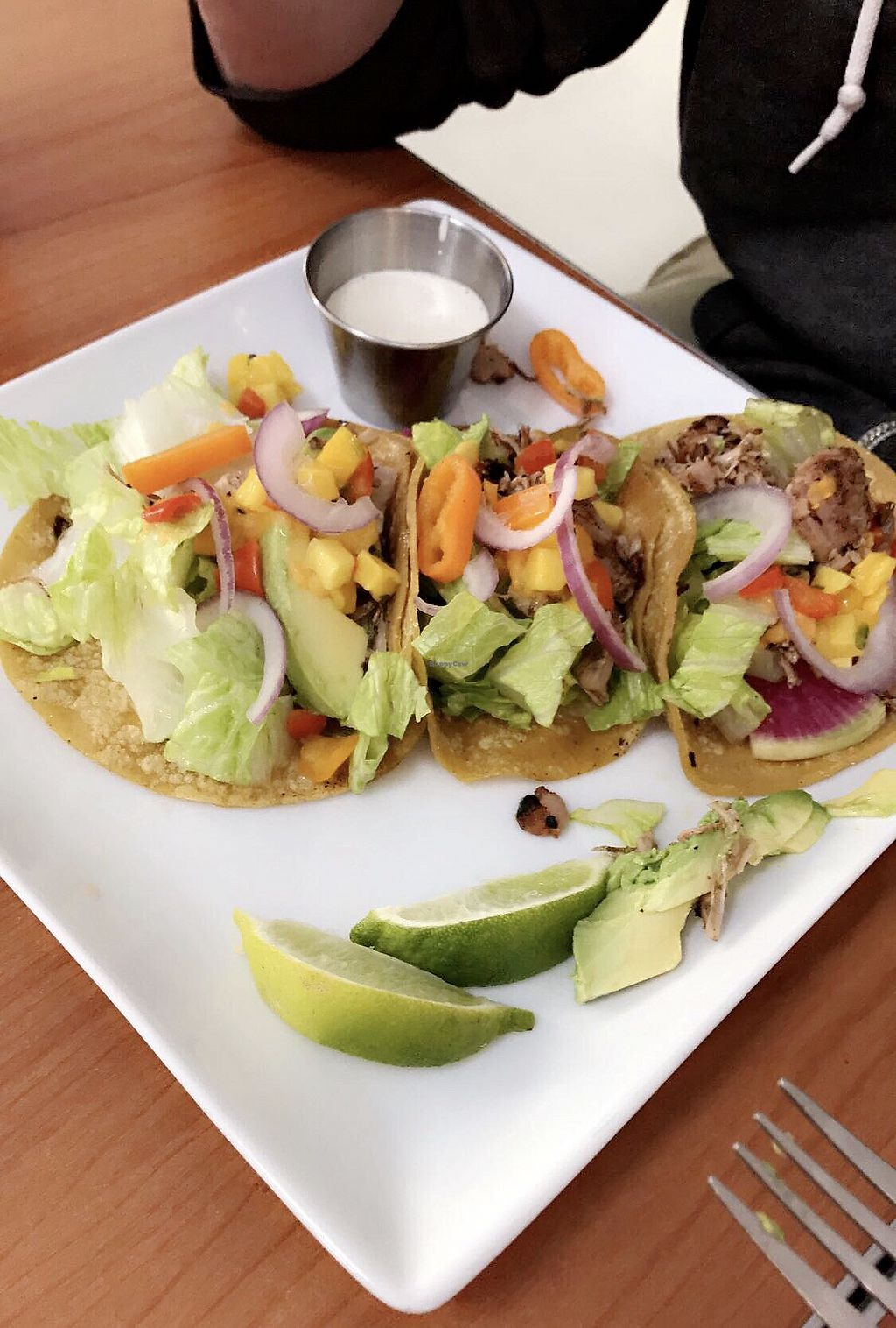 """Photo of Cafe Wylde  by <a href=""""/members/profile/Nastastia"""">Nastastia</a> <br/>Peach habanero tacos  <br/> February 23, 2018  - <a href='/contact/abuse/image/72436/362604'>Report</a>"""