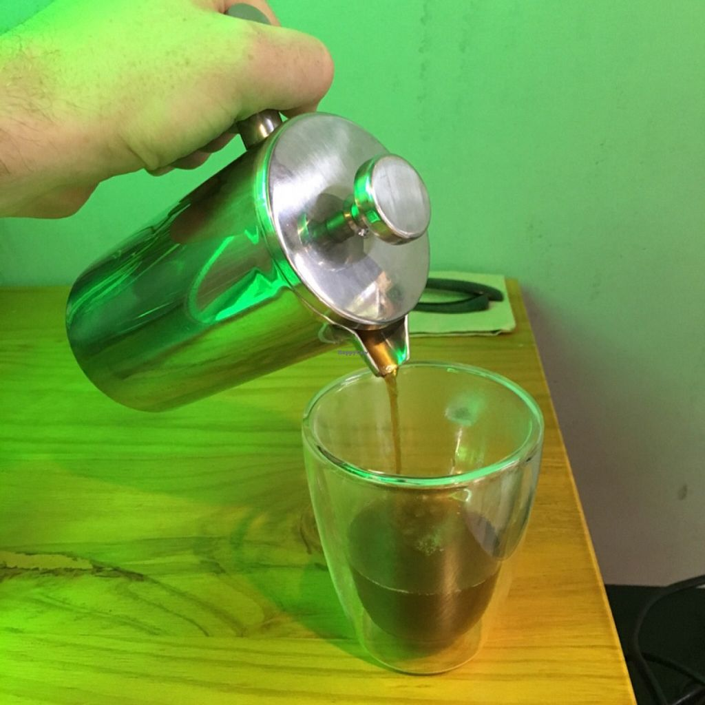 "Photo of CLOSED: Green Room  by <a href=""/members/profile/Emsee"">Emsee</a> <br/>delicious Yunnan fresh-ground cafetière with coconut sugar & coconut milk! <br/> May 14, 2016  - <a href='/contact/abuse/image/72464/148883'>Report</a>"