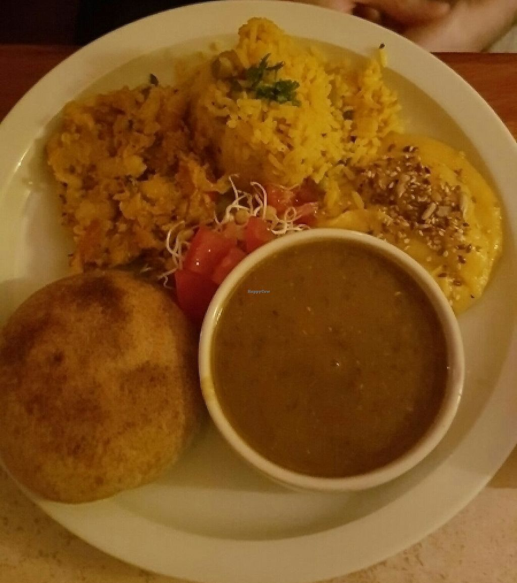 """Photo of Elefante Bengal Resto  by <a href=""""/members/profile/NatalieMayer"""">NatalieMayer</a> <br/>Another tasty thali plate! Finally some good food in Córdoba! <br/> December 2, 2016  - <a href='/contact/abuse/image/72470/287392'>Report</a>"""