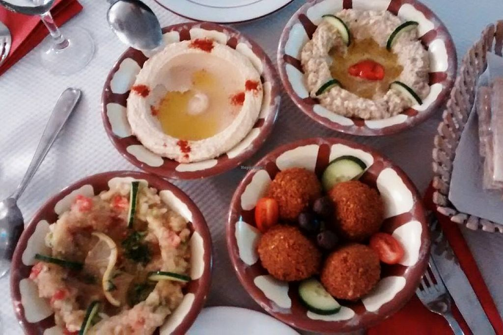 """Photo of Le Vieux Cèdre  by <a href=""""/members/profile/BlisterBlue"""">BlisterBlue</a> <br/>Vegan mezze! <br/> April 15, 2016  - <a href='/contact/abuse/image/72477/144709'>Report</a>"""