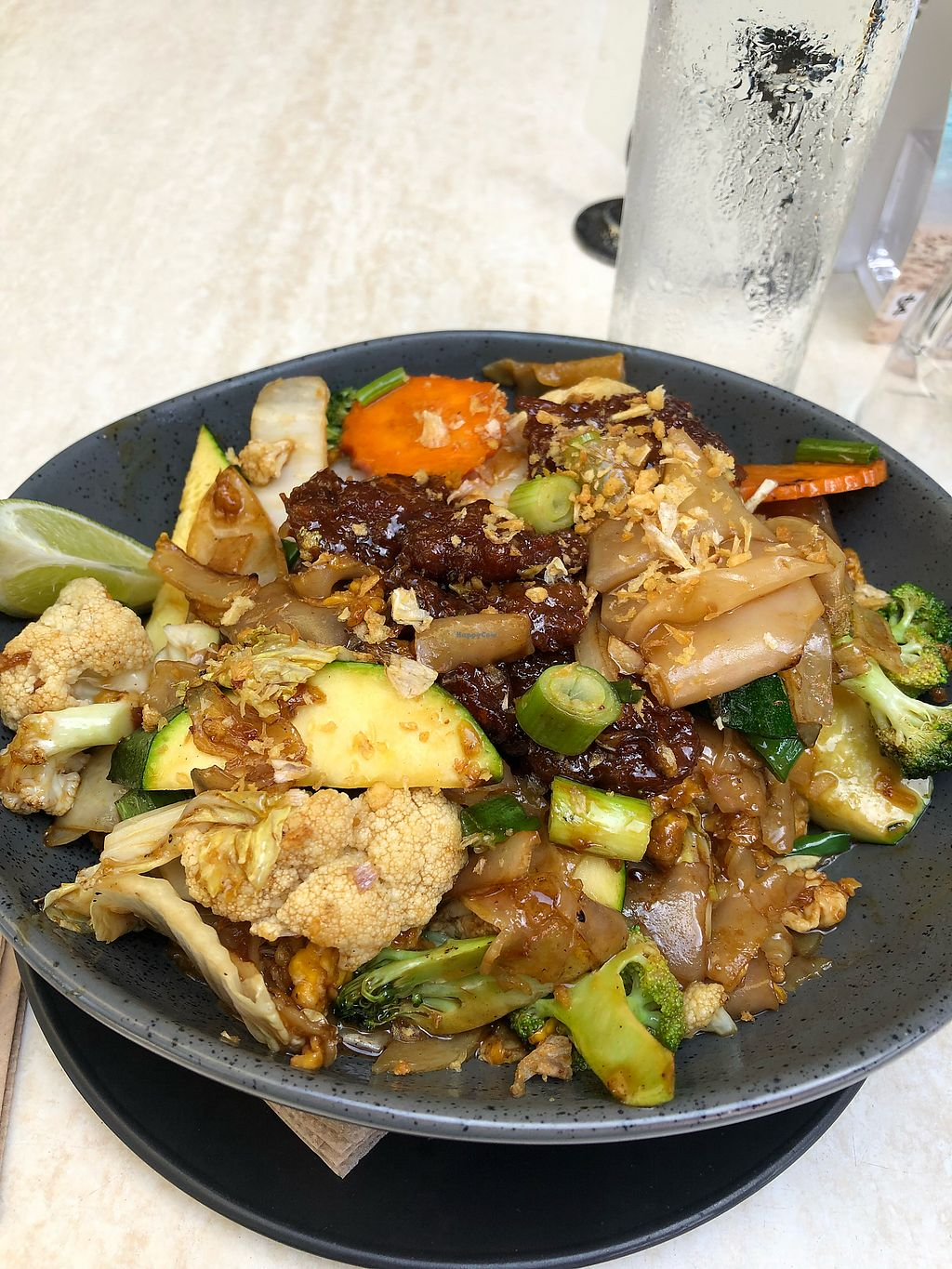 """Photo of Hot Chilli Bean Thai Cafe  by <a href=""""/members/profile/sandra.dezwart%40bigpon"""">sandra.dezwart@bigpon</a> <br/>Vegan pad see eww with mock chicken awesome can't believe it's not chicken  <br/> March 22, 2018  - <a href='/contact/abuse/image/72486/374160'>Report</a>"""