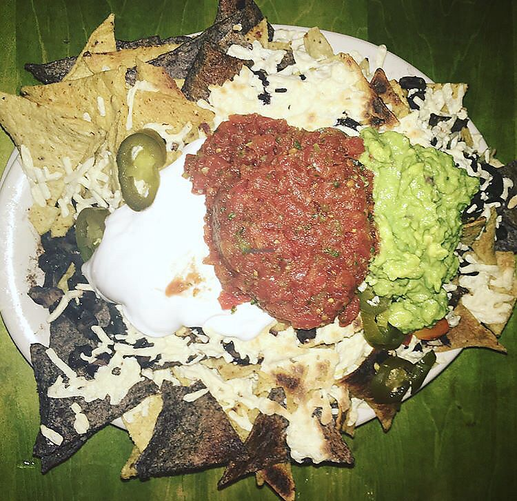 """Photo of Mad Mex  by <a href=""""/members/profile/Tabgreenvegan"""">Tabgreenvegan</a> <br/>Vegan Nachos <br/> March 28, 2018  - <a href='/contact/abuse/image/7248/377454'>Report</a>"""