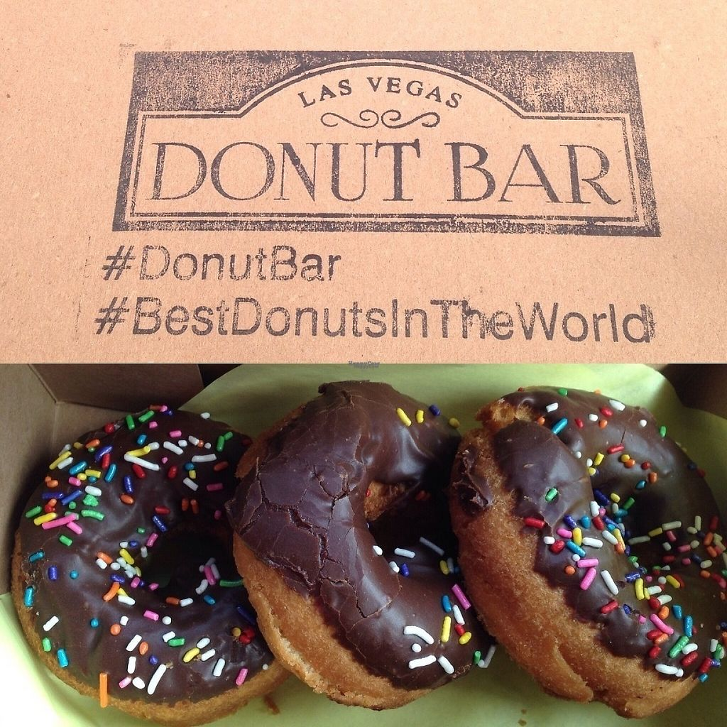 """Photo of Donut Bar  by <a href=""""/members/profile/Veganlove408"""">Veganlove408</a> <br/>Vegan options available daily  <br/> February 13, 2017  - <a href='/contact/abuse/image/72504/226302'>Report</a>"""