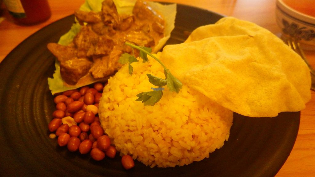 """Photo of VegCafe  by <a href=""""/members/profile/deadpledge"""">deadpledge</a> <br/>Mutton curry and rice <br/> August 1, 2016  - <a href='/contact/abuse/image/72534/164274'>Report</a>"""
