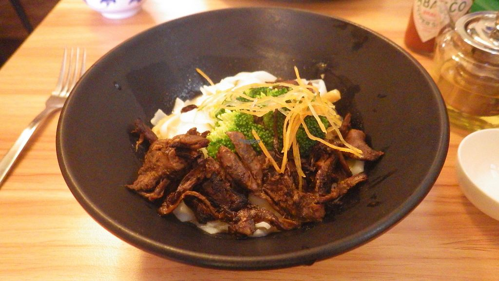"""Photo of VegCafe  by <a href=""""/members/profile/deadpledge"""">deadpledge</a> <br/>Seitan noodles and veg <br/> August 1, 2016  - <a href='/contact/abuse/image/72534/164289'>Report</a>"""