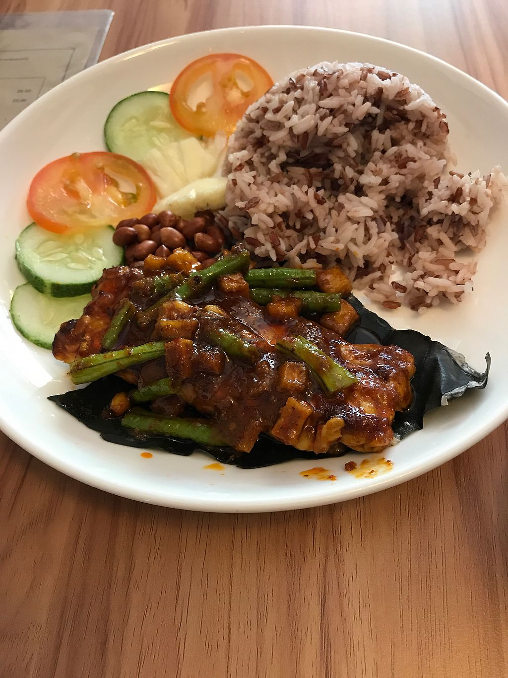 """Photo of VegCafe  by <a href=""""/members/profile/WeiLiQuek"""">WeiLiQuek</a> <br/>sambal Tempeh rice <br/> September 2, 2017  - <a href='/contact/abuse/image/72534/299913'>Report</a>"""