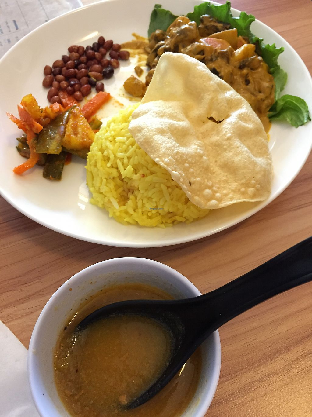 """Photo of VegCafe  by <a href=""""/members/profile/Someoneoutthere"""">Someoneoutthere</a> <br/>Curry comes with a soup.  <br/> October 6, 2017  - <a href='/contact/abuse/image/72534/312248'>Report</a>"""