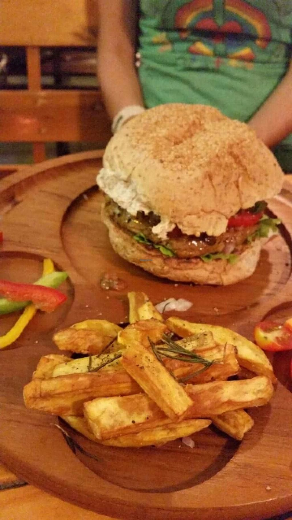 "Photo of CLOSED: Karma Kitchen  by <a href=""/members/profile/LilacHippy"">LilacHippy</a> <br/>Mushroom burger <br/> April 18, 2016  - <a href='/contact/abuse/image/72555/145056'>Report</a>"