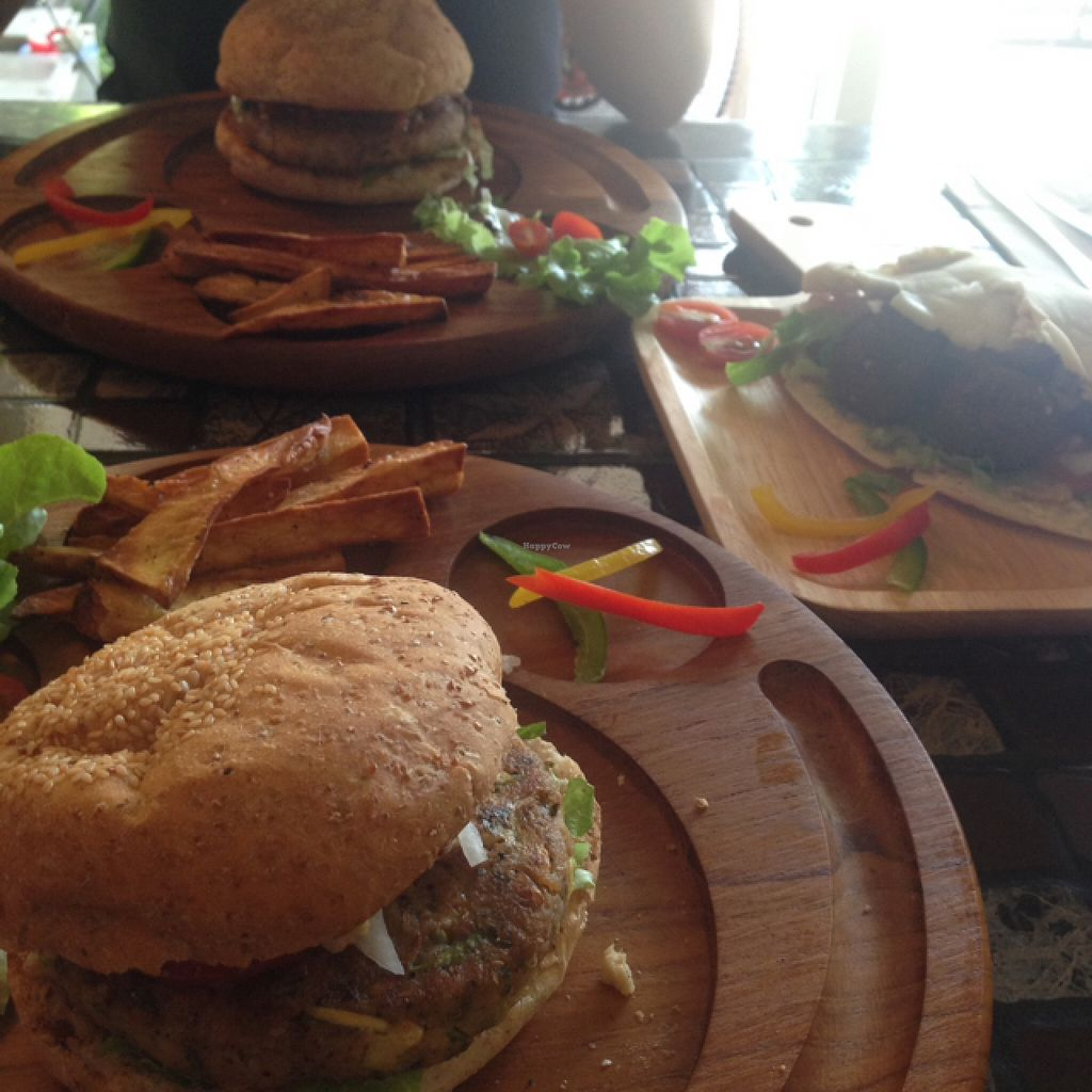 "Photo of CLOSED: Karma Kitchen  by <a href=""/members/profile/jonny%20starch"">jonny starch</a> <br/>chick pea and mushroom burgers with a falafel wrap <br/> April 25, 2016  - <a href='/contact/abuse/image/72555/146201'>Report</a>"