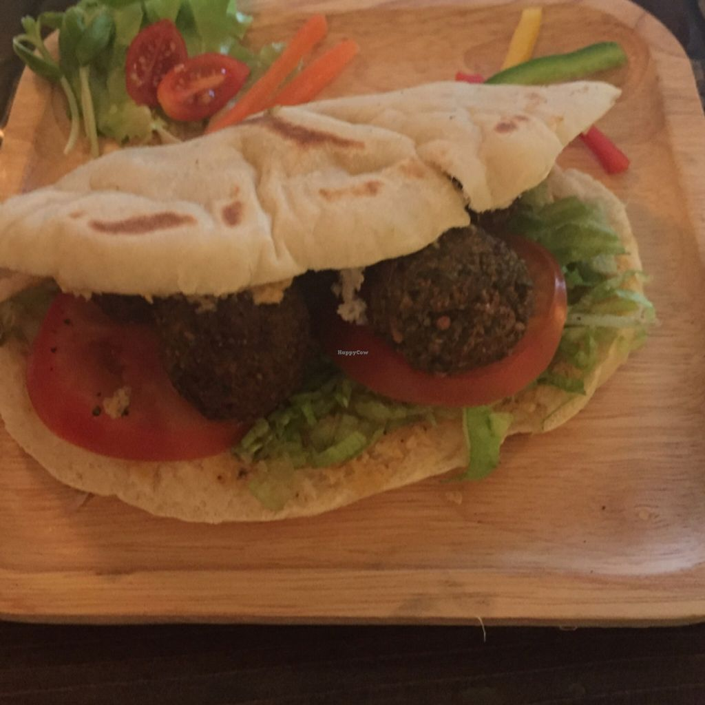 "Photo of CLOSED: Karma Kitchen  by <a href=""/members/profile/Oskorei"">Oskorei</a> <br/>Falafel & Hummus in Homemade Pitta <br/> May 7, 2016  - <a href='/contact/abuse/image/72555/147833'>Report</a>"