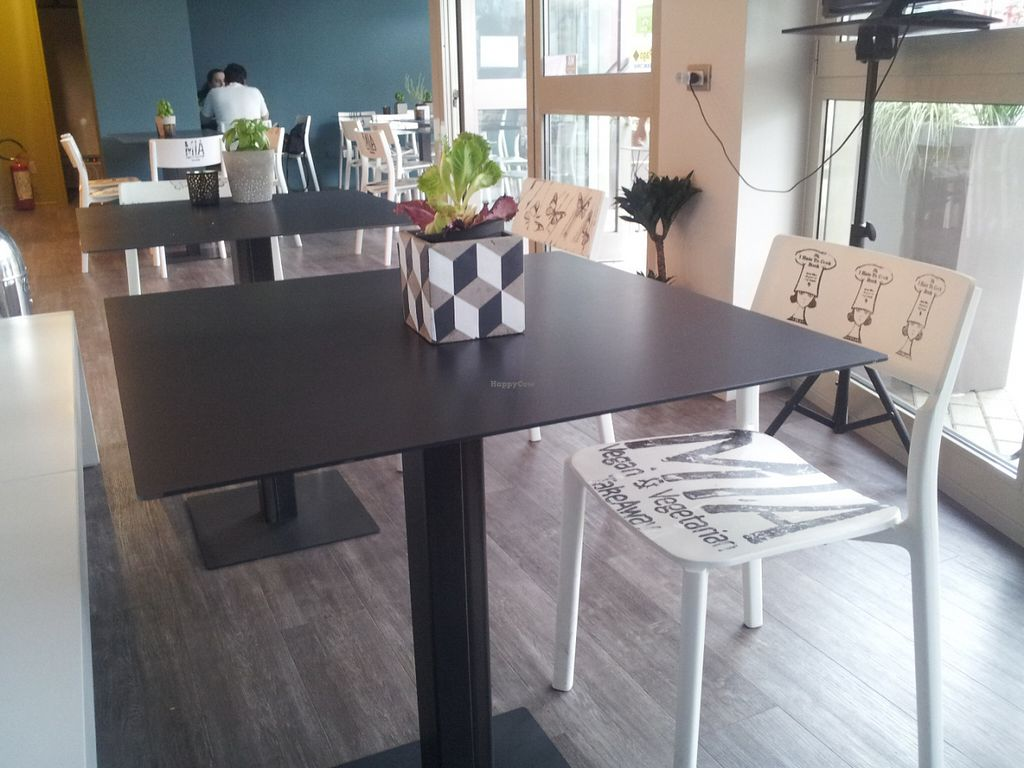 """Photo of CLOSED: Mia  by <a href=""""/members/profile/Joyatri"""">Joyatri</a> <br/>Interior with edible plants on each table <br/> July 16, 2016  - <a href='/contact/abuse/image/72560/160273'>Report</a>"""