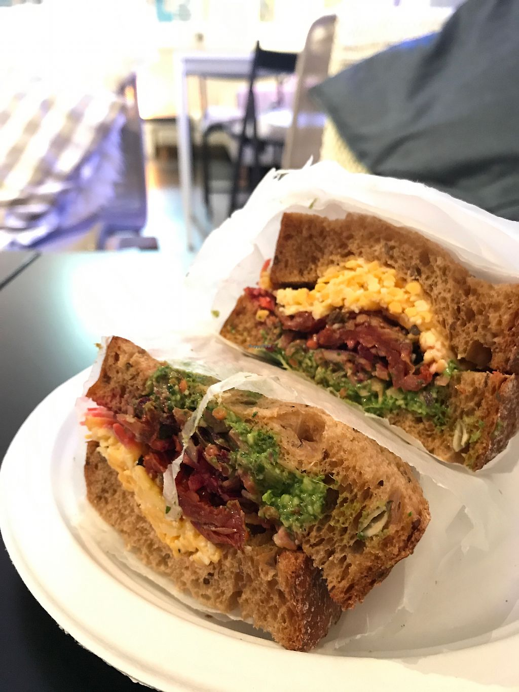 "Photo of CLOSED: Maritime Café  by <a href=""/members/profile/EricHutchinson"">EricHutchinson</a> <br/>Violife cheese, sun-dried tomato and basil pesto sandwich <br/> October 12, 2017  - <a href='/contact/abuse/image/72569/314550'>Report</a>"