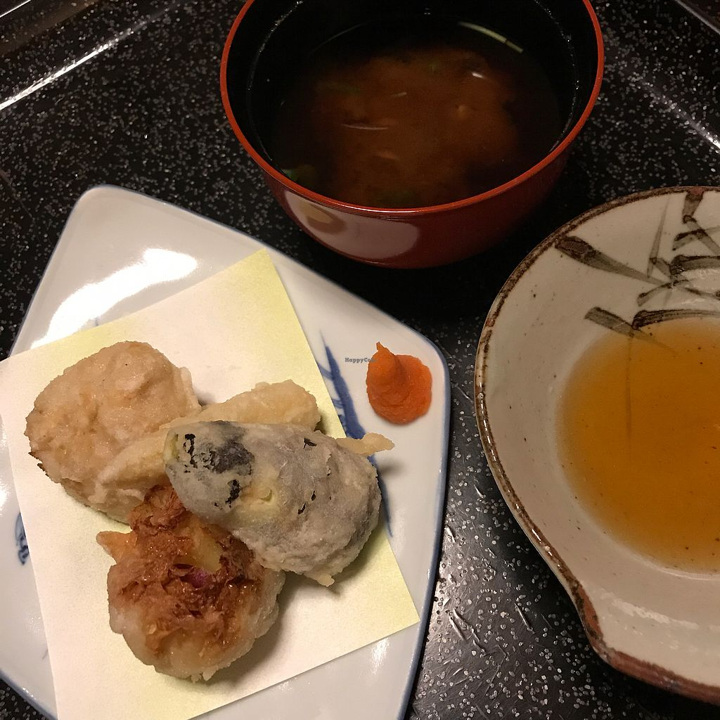 """Photo of Kan Suiro  by <a href=""""/members/profile/SimonJohnson"""">SimonJohnson</a> <br/>4/4 not sure how the did the tempura potatoes but they were surprisingly great <br/> August 8, 2017  - <a href='/contact/abuse/image/72627/290458'>Report</a>"""