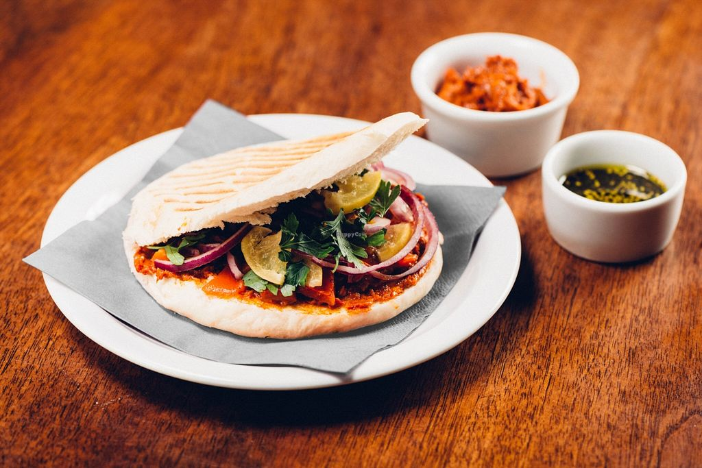 "Photo of Cheder  by <a href=""/members/profile/RoslinnieJemy"">RoslinnieJemy</a> <br/>vegan moroccan pita bread with lemon pickles and harissa <br/> April 28, 2016  - <a href='/contact/abuse/image/72647/146543'>Report</a>"