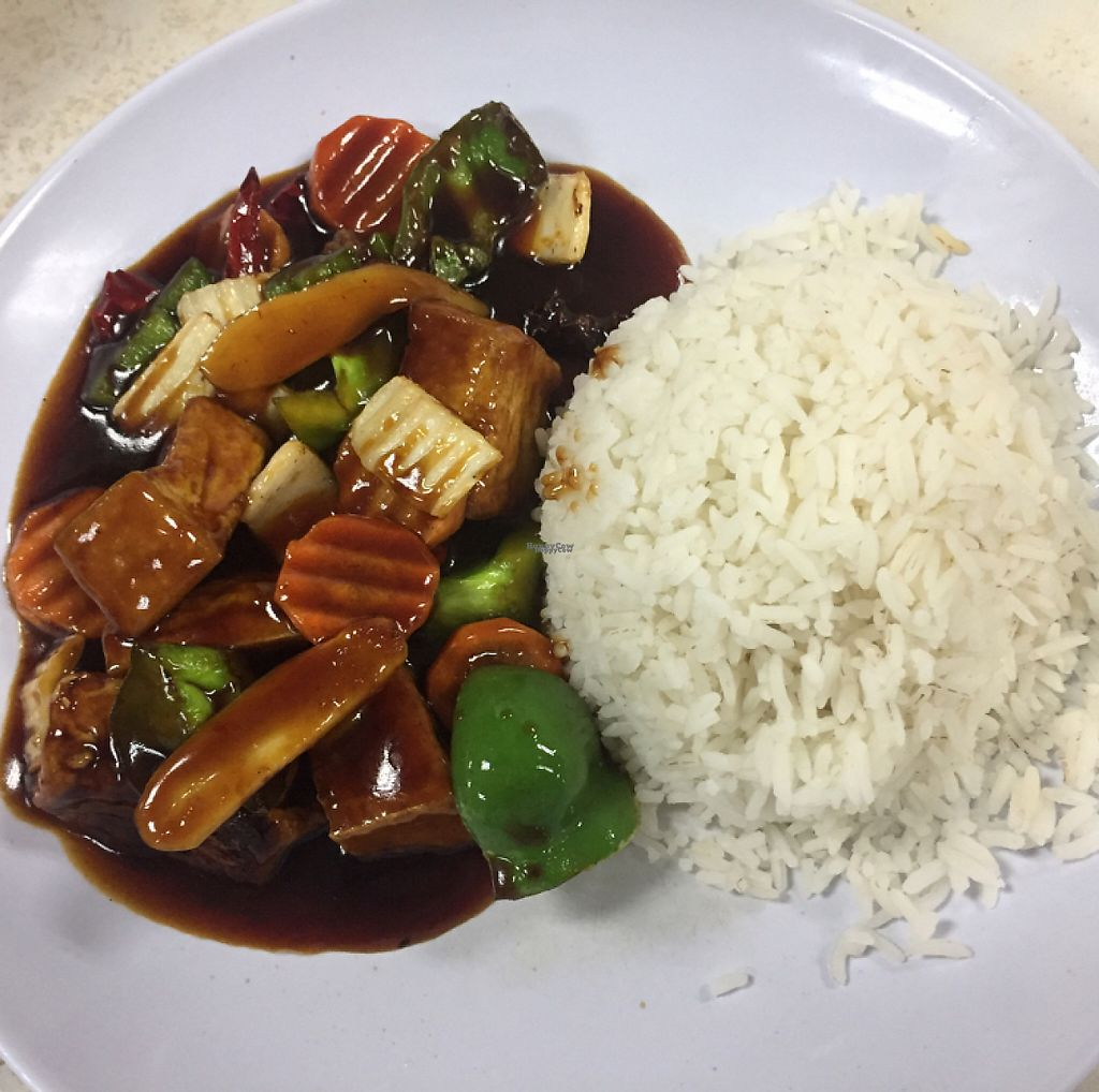 """Photo of Water Lily Restaurant  by <a href=""""/members/profile/The%20London%20Vegan"""">The London Vegan</a> <br/>Rice with spicy tofu  <br/> January 2, 2017  - <a href='/contact/abuse/image/7264/207193'>Report</a>"""