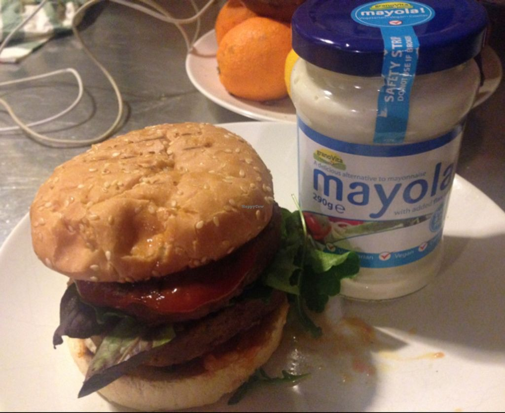 """Photo of CHICCAS  by <a href=""""/members/profile/CHICCAS%20Restaurante"""">CHICCAS Restaurante</a> <br/>mushroom burger with vegan Mayo  <br/> April 19, 2016  - <a href='/contact/abuse/image/72652/145297'>Report</a>"""