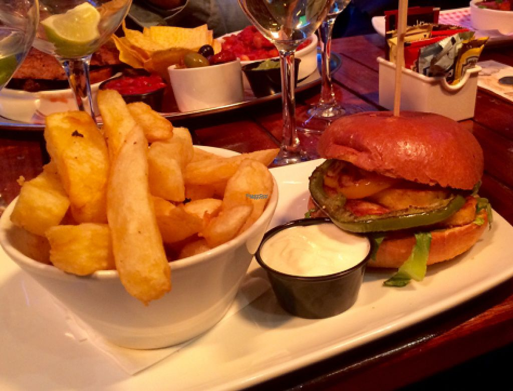 "Photo of Lavery's  by <a href=""/members/profile/CiaraSlevin"">CiaraSlevin</a> <br/>Vegetarian halloumi burger with Vegan platter in background  <br/> August 27, 2016  - <a href='/contact/abuse/image/72693/239760'>Report</a>"