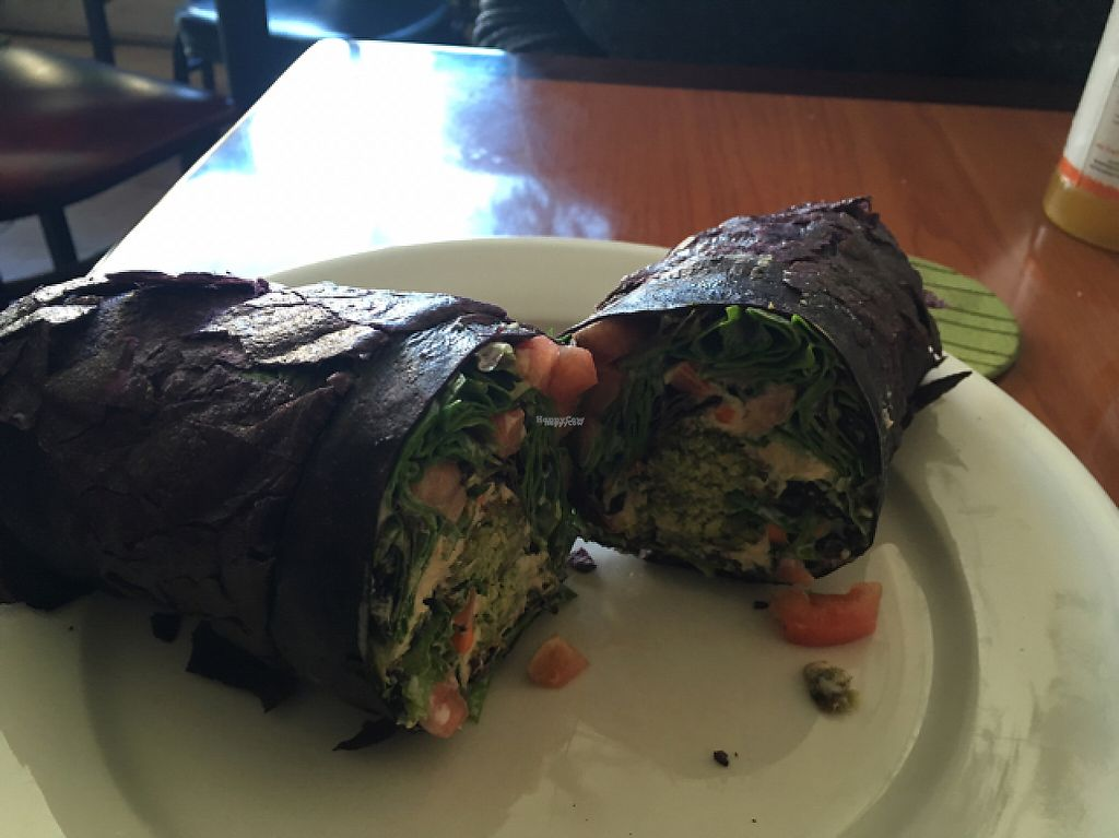 """Photo of Andrew's Healthy Eating  by <a href=""""/members/profile/EmperorSelassieEye"""">EmperorSelassieEye</a> <br/>Black bean falafel wrap  <br/> January 30, 2017  - <a href='/contact/abuse/image/72707/219501'>Report</a>"""