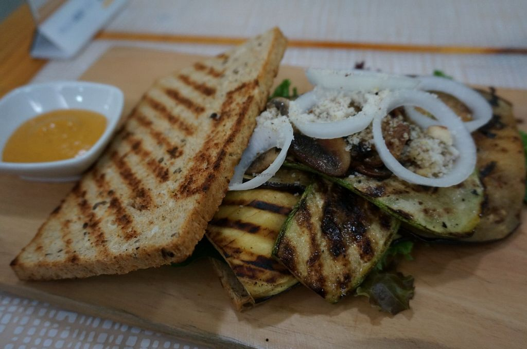 """Photo of SANA Vegan Cafe  by <a href=""""/members/profile/Ricardo"""">Ricardo</a> <br/>Grilled Vegetable Sandwich <br/> June 17, 2016  - <a href='/contact/abuse/image/72735/154490'>Report</a>"""
