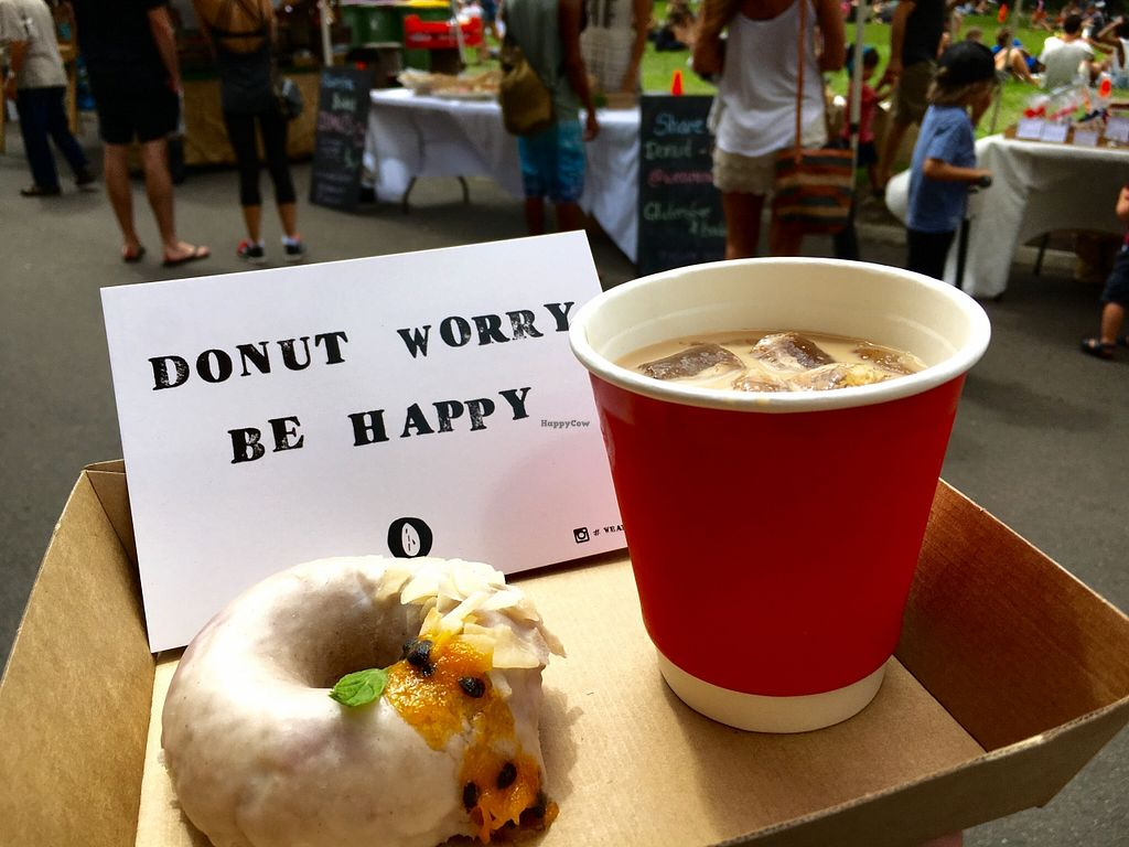 """Photo of Bondi Farmer's Market  by <a href=""""/members/profile/SeitanSeitanSeitan"""">SeitanSeitanSeitan</a> <br/>Vegan donut <br/> April 22, 2016  - <a href='/contact/abuse/image/72783/145829'>Report</a>"""