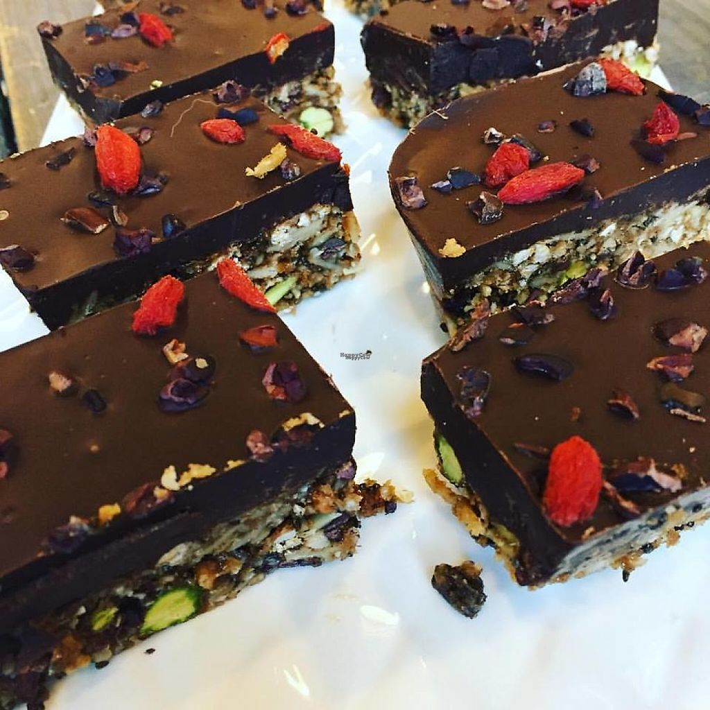 """Photo of The Karma Conscious Cafe and Eatery  by <a href=""""/members/profile/community"""">community</a> <br/>vegan bars <br/> January 9, 2017  - <a href='/contact/abuse/image/72786/209975'>Report</a>"""