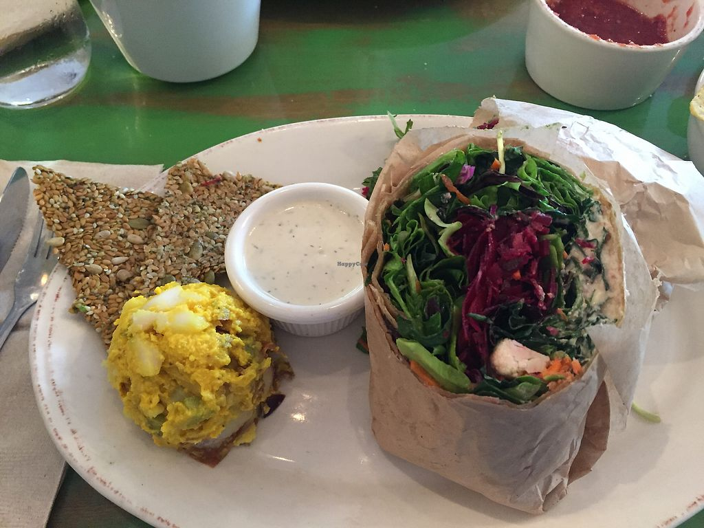 "Photo of Pomegranate Cafe  by <a href=""/members/profile/JeannieBridenbaugh"">JeannieBridenbaugh</a> <br/>Raw veg wrap <br/> September 4, 2017  - <a href='/contact/abuse/image/72787/300922'>Report</a>"