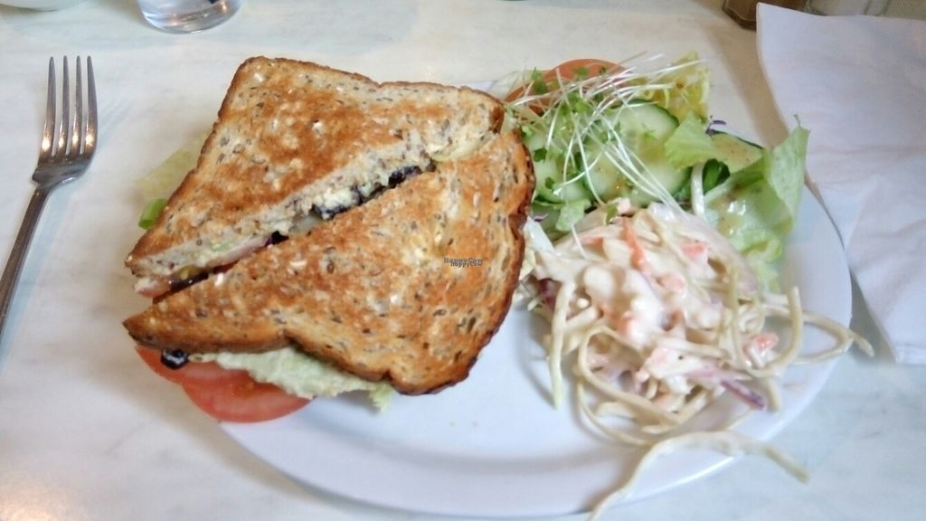 "Photo of Cafe 50  by <a href=""/members/profile/VeganWitchery"">VeganWitchery</a> <br/>BLT Toastie <br/> September 20, 2016  - <a href='/contact/abuse/image/72802/177029'>Report</a>"