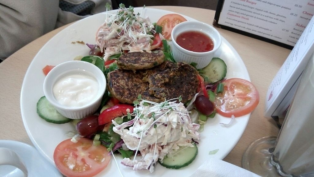 "Photo of Cafe 50  by <a href=""/members/profile/VeganWitchery"">VeganWitchery</a> <br/>Vegan Falafel Salad <br/> March 6, 2017  - <a href='/contact/abuse/image/72802/233418'>Report</a>"