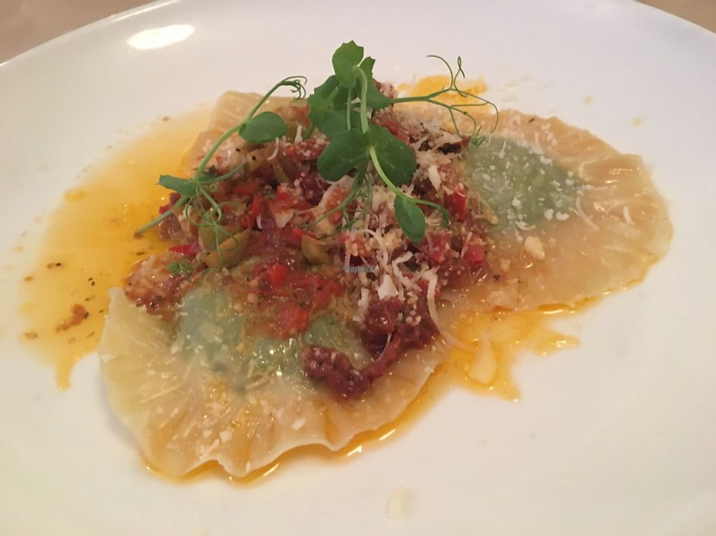 """Photo of Governors Bay Hotel  by <a href=""""/members/profile/Yolanda"""">Yolanda</a> <br/>vegan ravioli stuffed with herby tofu  <br/> April 26, 2017  - <a href='/contact/abuse/image/72816/252641'>Report</a>"""