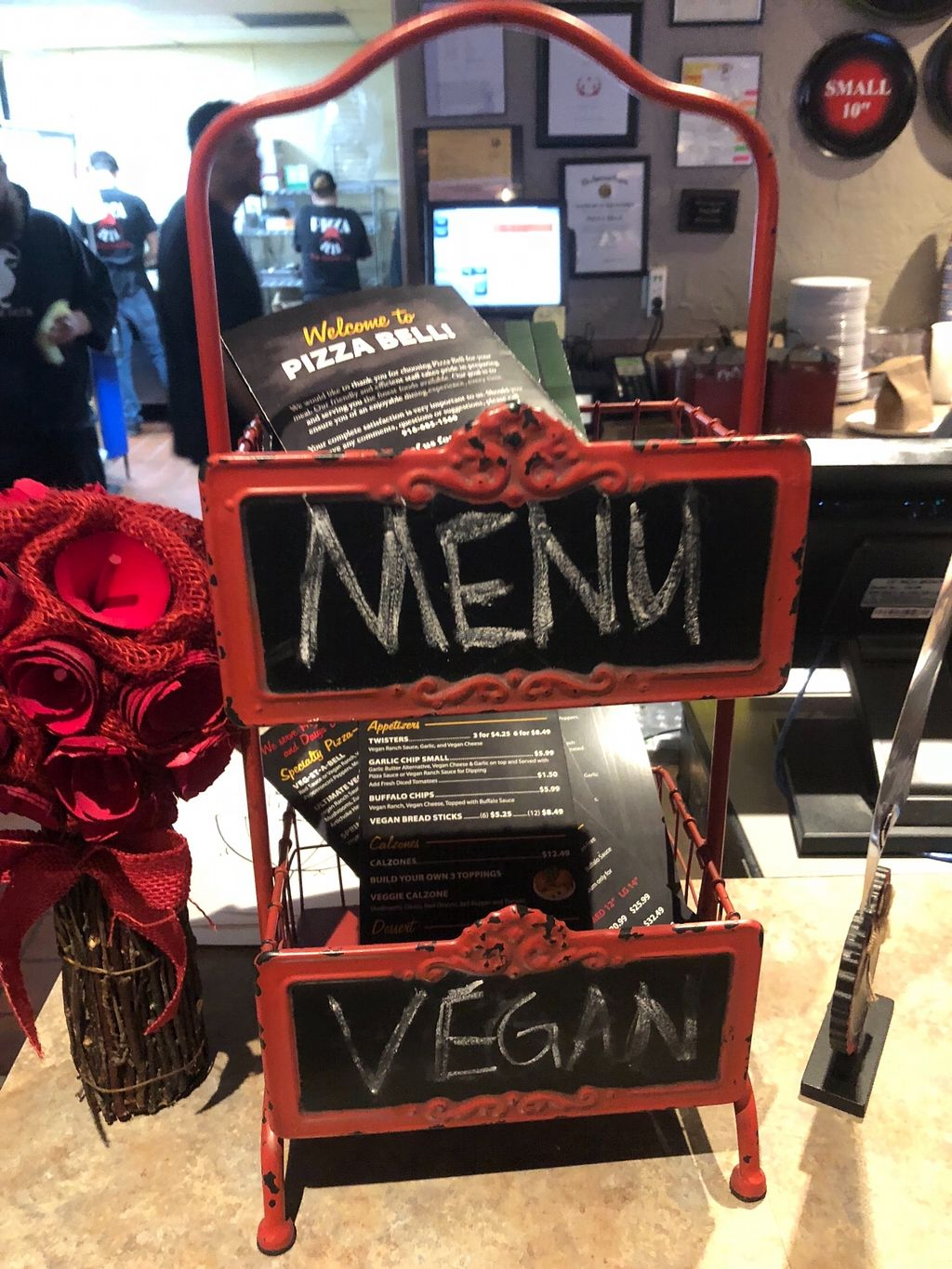 """Photo of Pizza Bell  by <a href=""""/members/profile/ehjay"""">ehjay</a> <br/>The menu stand at the front counter.   <br/> February 4, 2018  - <a href='/contact/abuse/image/72819/354664'>Report</a>"""