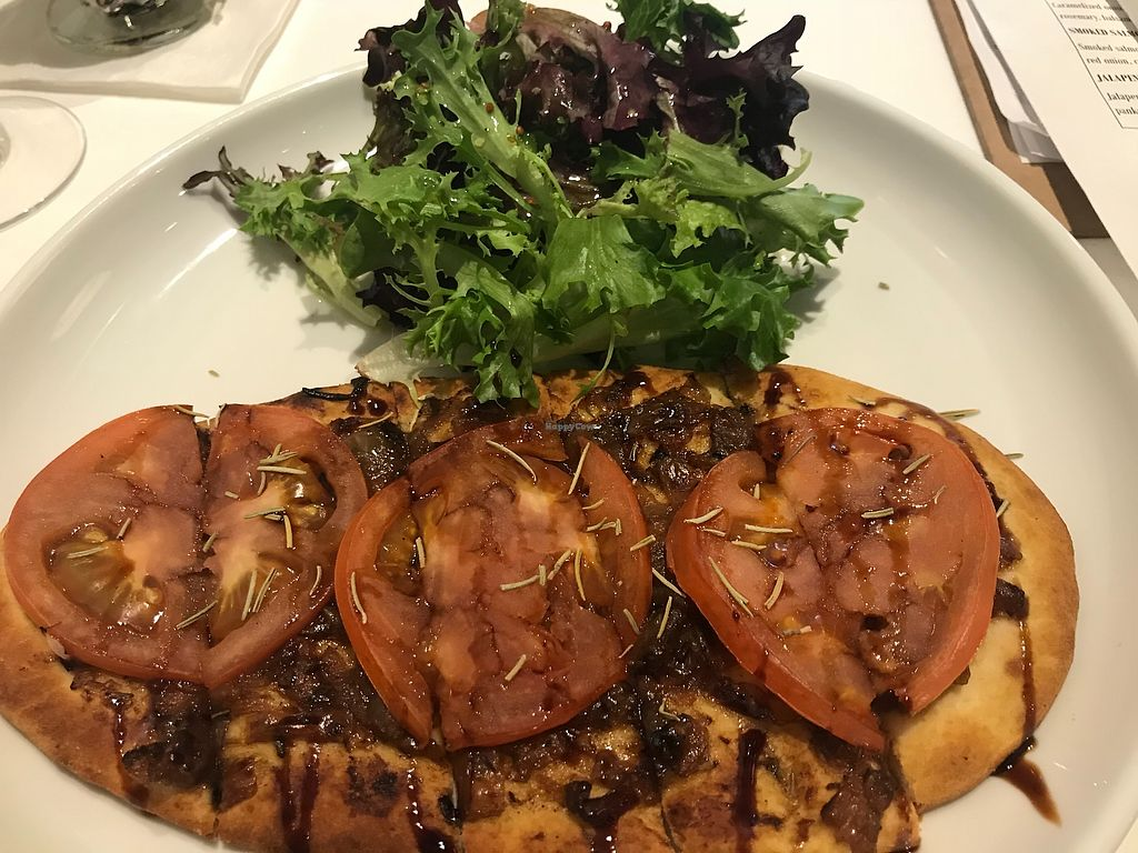 "Photo of Vini Culture  by <a href=""/members/profile/Alysoun%20Mahoney"">Alysoun Mahoney</a> <br/>Vegan flatbread - carmelized onion with tomato <br/> April 8, 2018  - <a href='/contact/abuse/image/72839/382715'>Report</a>"