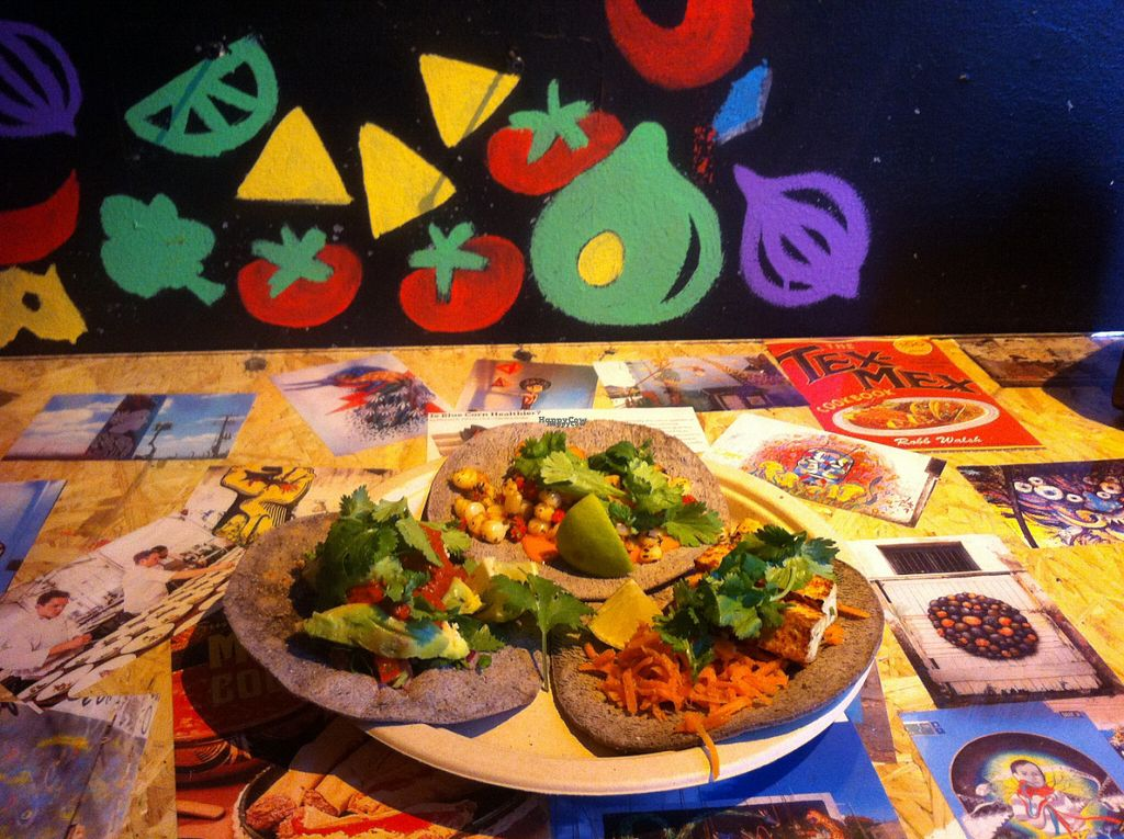 "Photo of BlueTaco  by <a href=""/members/profile/piffelina"">piffelina</a> <br/>A selection of vegan tacos <br/> August 2, 2016  - <a href='/contact/abuse/image/72846/164466'>Report</a>"